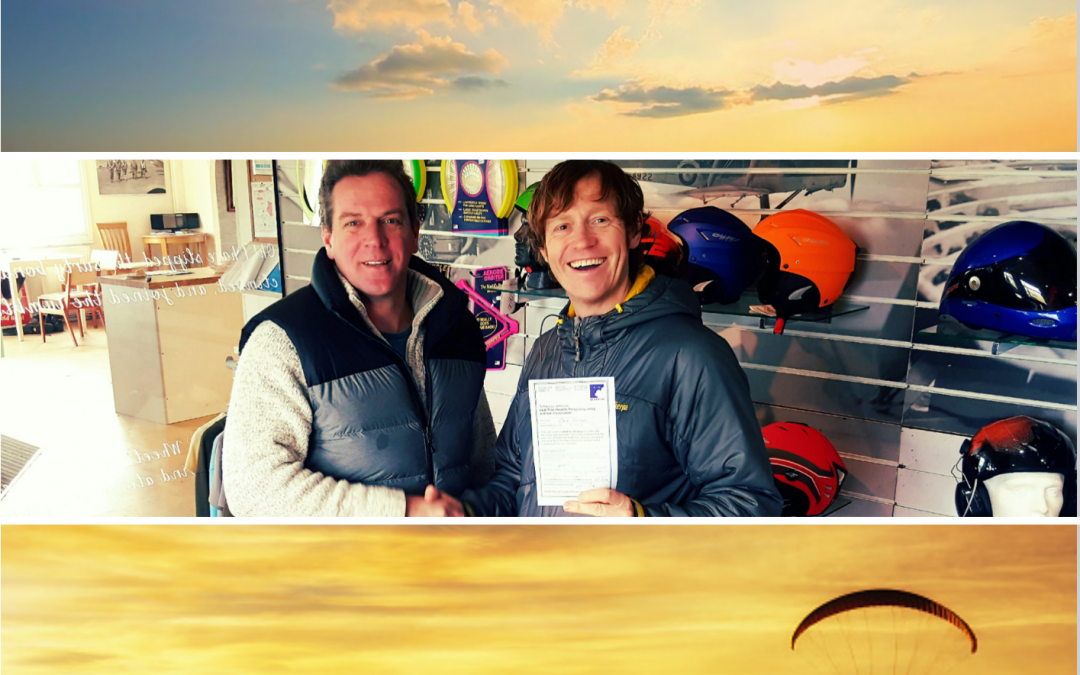 So today I passed my Paragliding Pilots License and I am over the moon.